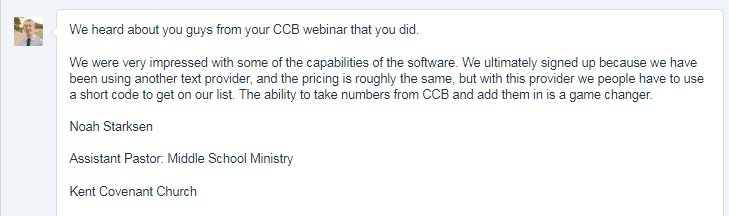 Found via CCB webinar. Game changer: importing numbers from CCB.