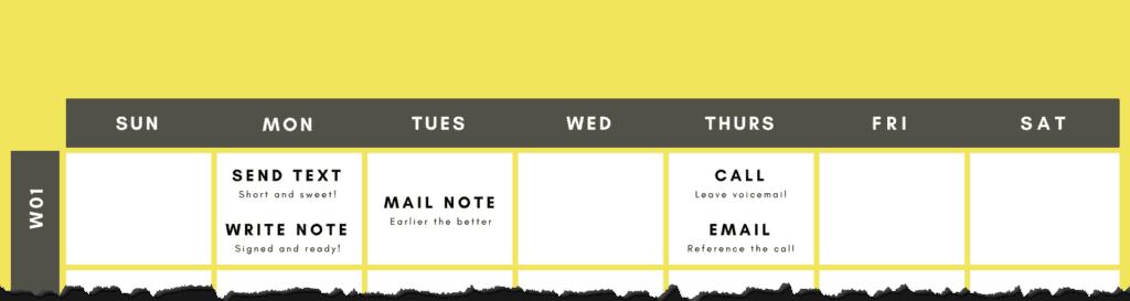 text follow up schedule