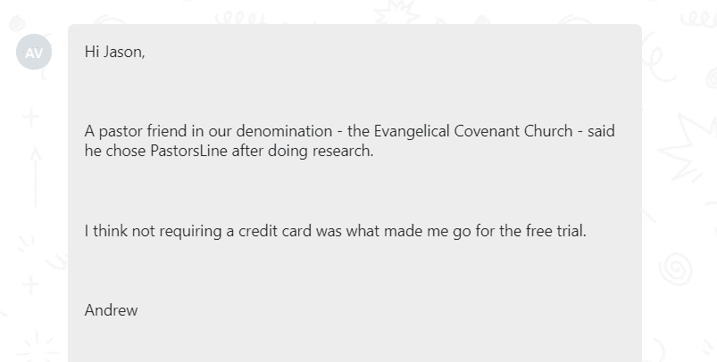 PastorsLine was recommended a pastor friend - the Evangelical Covenant Church
