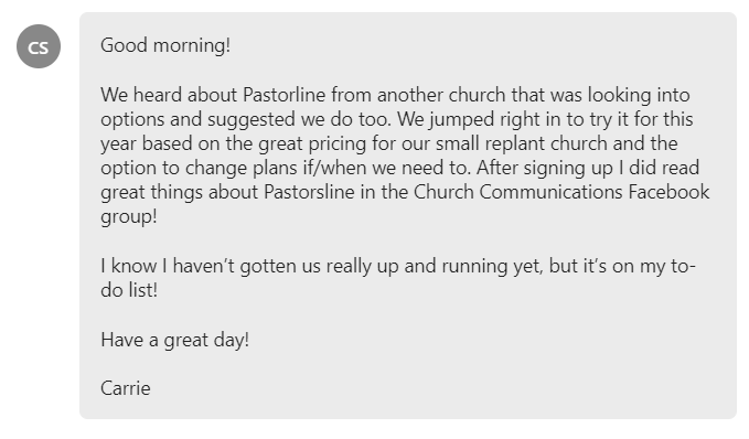 great pricing for our small replant church and the option to change plans if/when we need to.