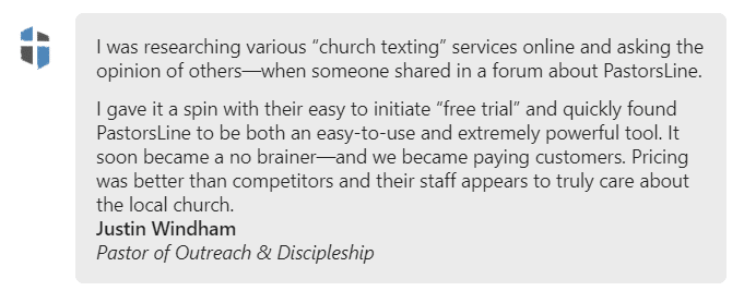Pricing was better than competitors and their staff appears to truly care about the local church.