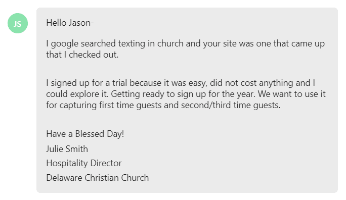 signed up for a trial because it was easy, did not cost anything and I could explore it. Getting ready to sign up for the year.
