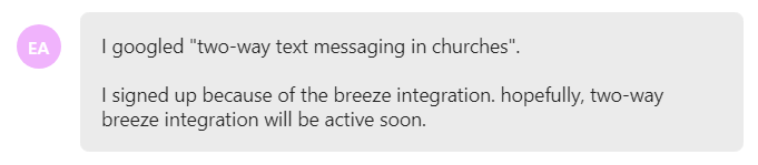 I signed up because of the breeze integration. hopefully, two-way breeze integration will be active soon.