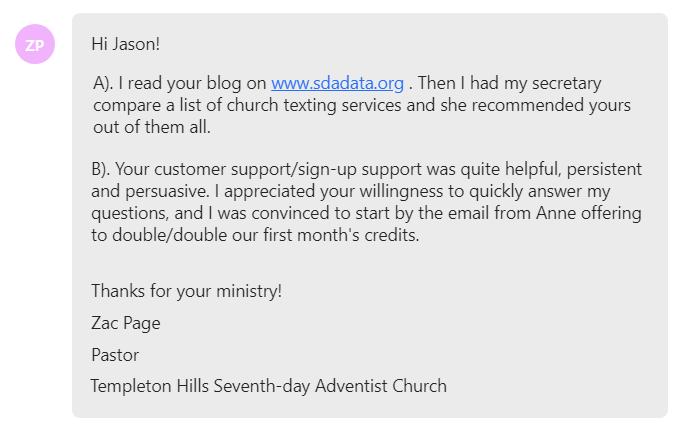 Your customer support/sign-up support was quite helpful, persistent and persuasive.