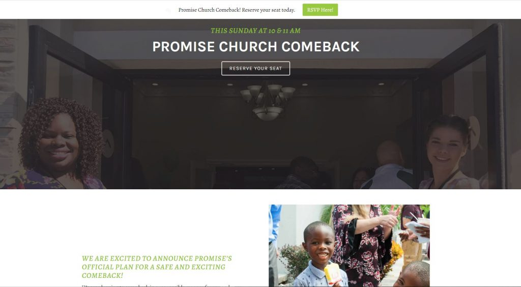 My Promise Church Post-COVID19 Return